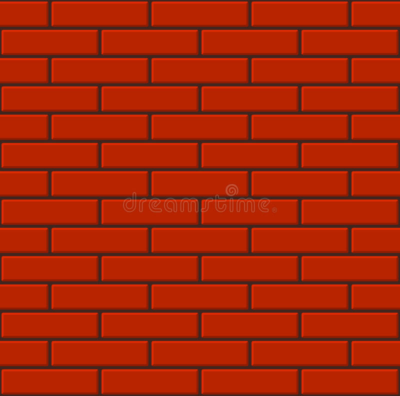 Mur de briques rouge carrelé sans couture Vecteur illustration stock