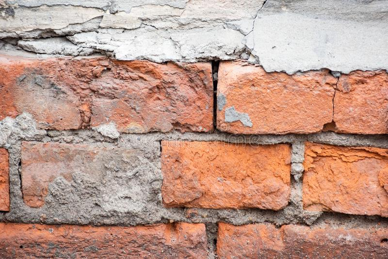 Mur de briques rouge in?gal image stock