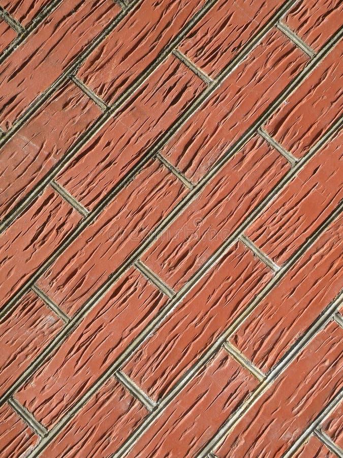Mur de briques rouges image libre de droits