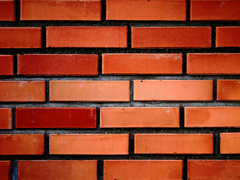 Mur de briques rouges III photos libres de droits