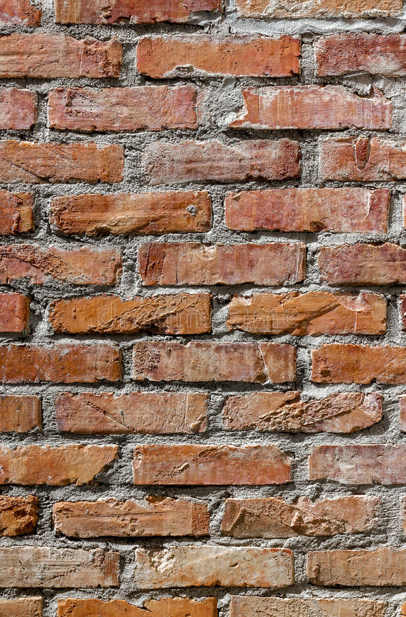 Mur de briques rustique photo libre de droits