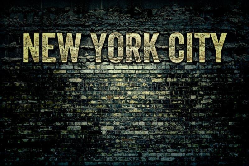 Mur de briques sale de New York City photographie stock libre de droits