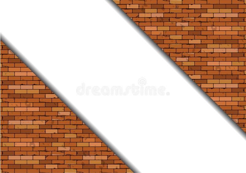 Mur de briques sans joint illustration libre de droits
