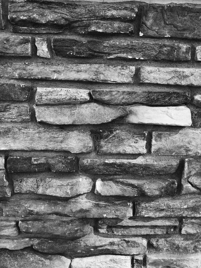 Mur de briques sur Front Of une Chambre image stock