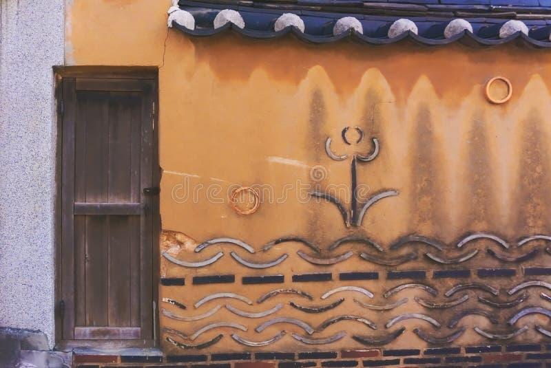 mur de briques traditionnel de style de vintage images stock