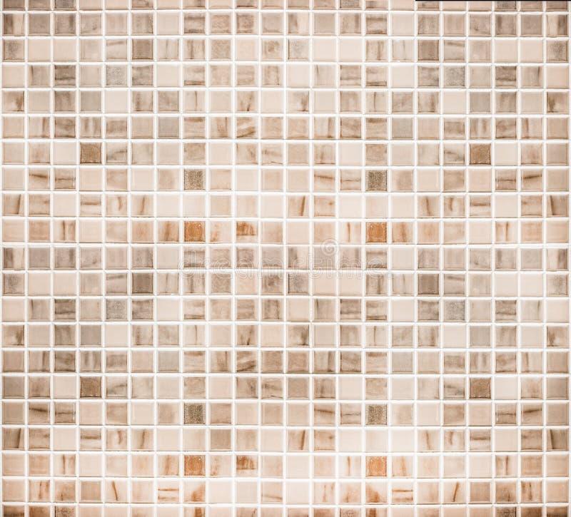 Mur de carreau de céramique de vintage/fond à la maison de mur de salle de bains de conception photo libre de droits
