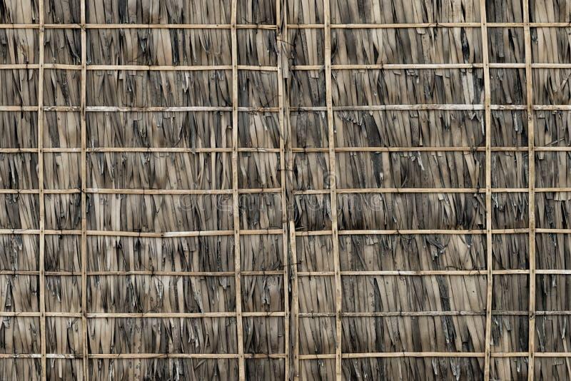 mur de chaume et de bambou photo stock image du contexte. Black Bedroom Furniture Sets. Home Design Ideas