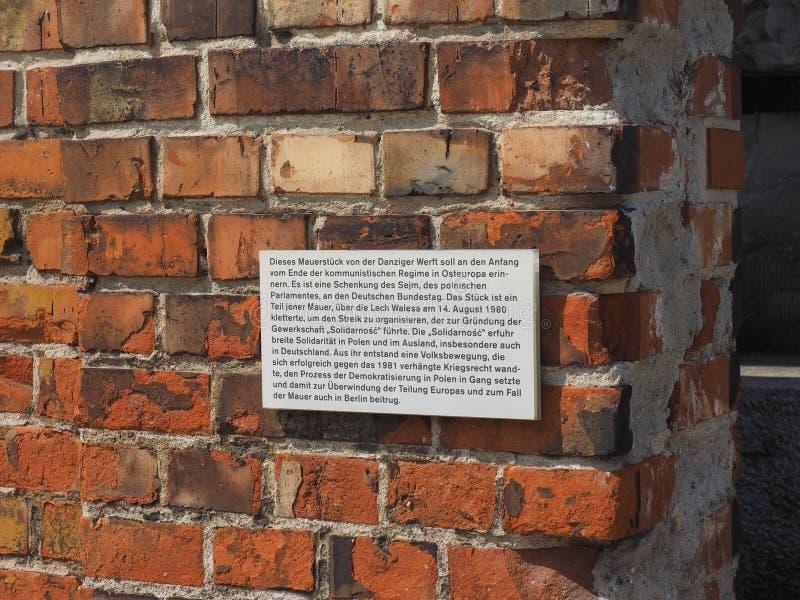 Mur de Danzig à Berlin photographie stock libre de droits