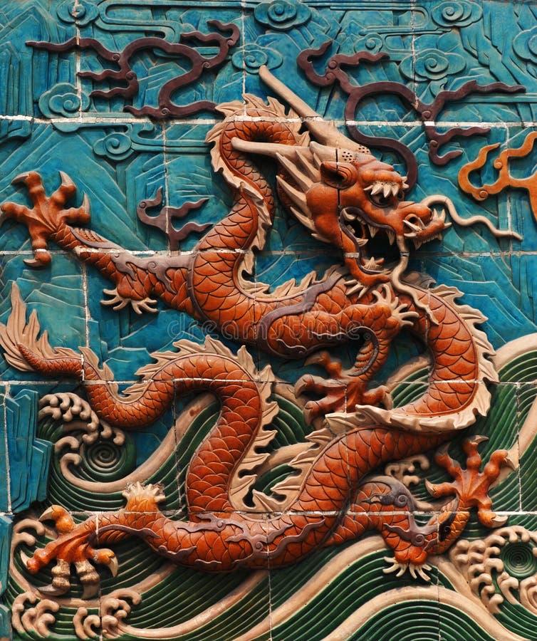 Mur de dragon images stock