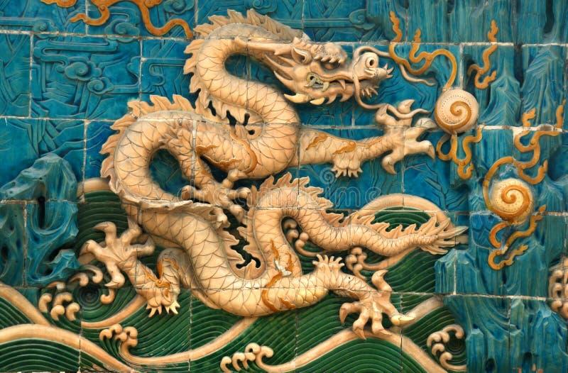 Mur de dragon photo libre de droits