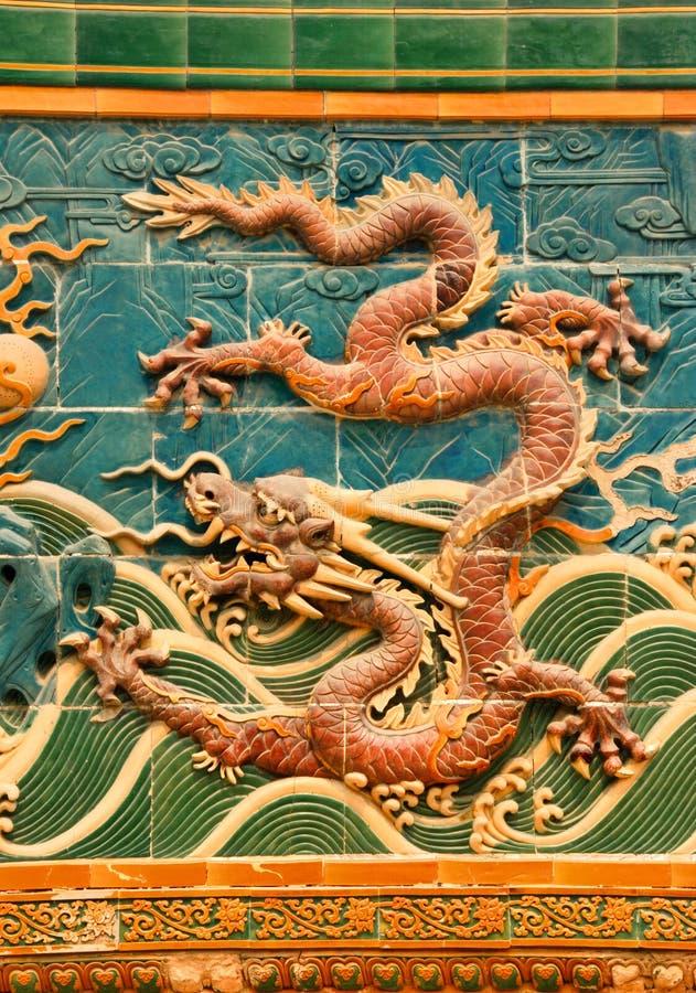 Mur de dragon images libres de droits