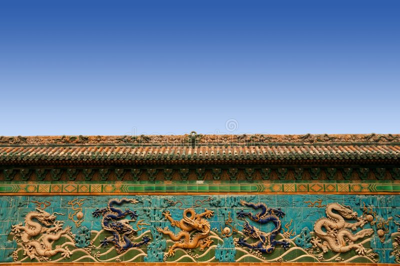 Mur de dragon photographie stock