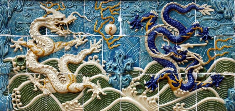 Mur de dragon photo stock
