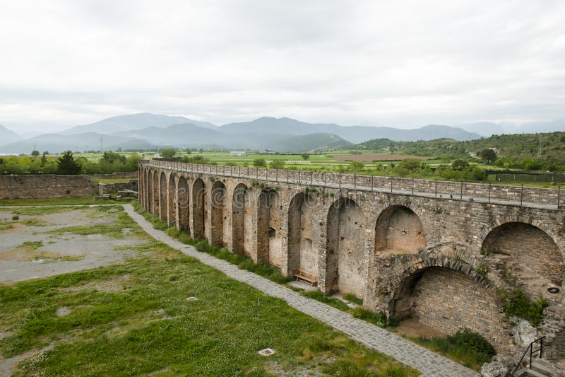 Mur de fort - Ainsa - Espagne photographie stock