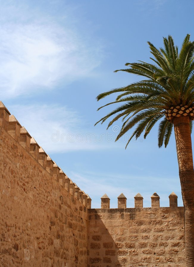 Mur de forteresse photos libres de droits