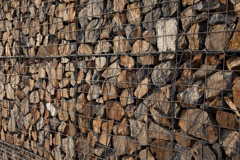 Mur de Gabion photographie stock