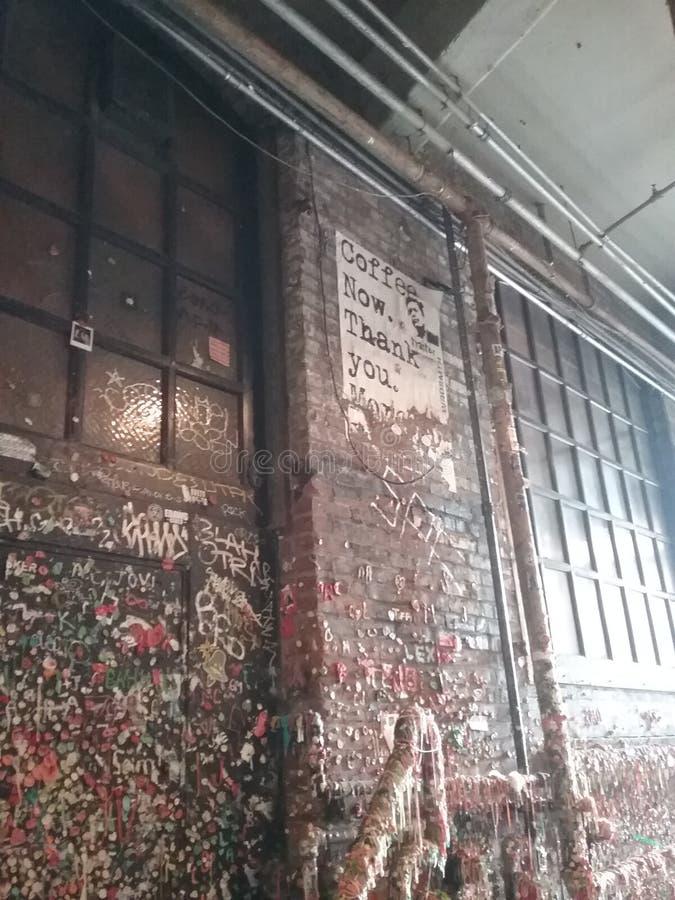 Mur de gomme images libres de droits