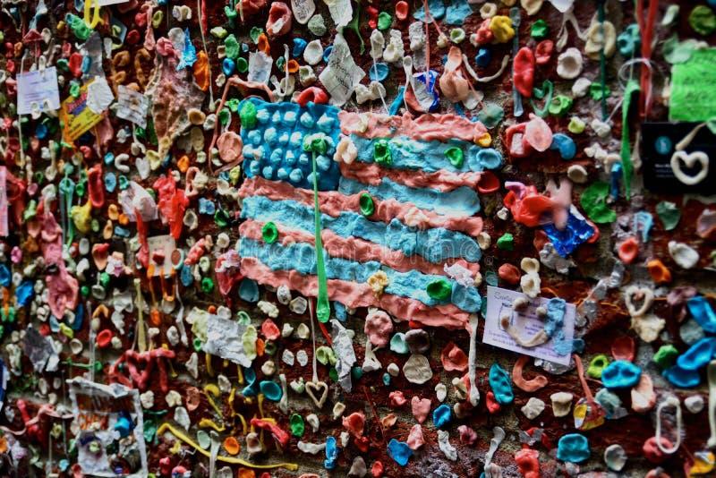 Mur de gomme photo stock