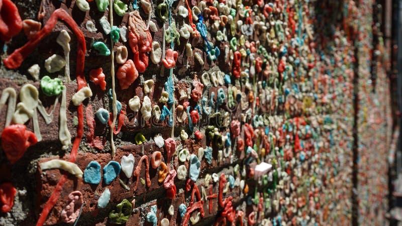 Mur de gomme de Seattle photos stock