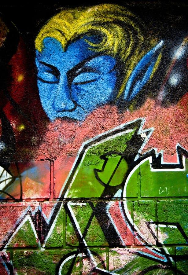 Mur de graffiti photo stock