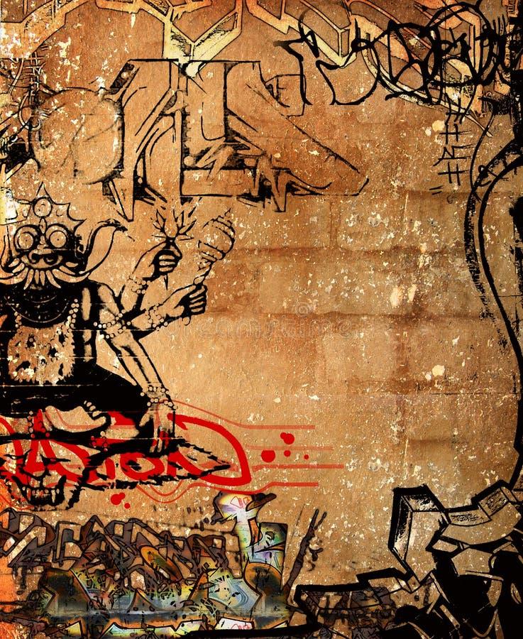 Mur de graffiti illustration stock