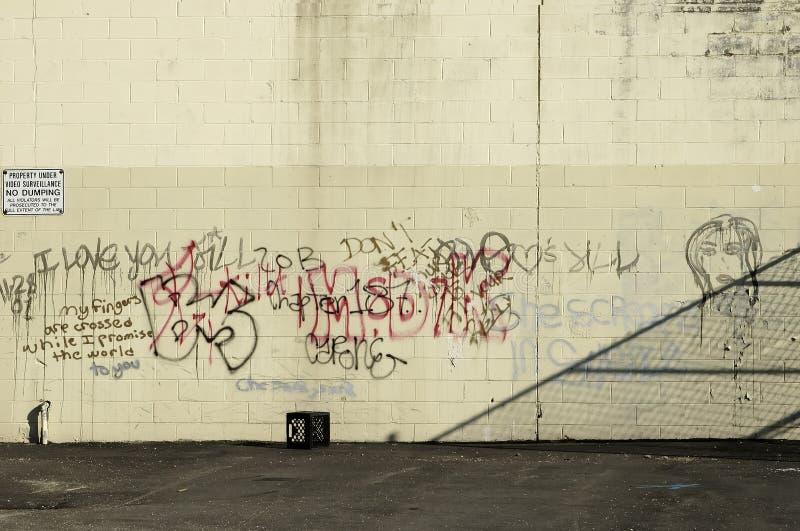 Mur de graffiti photo libre de droits