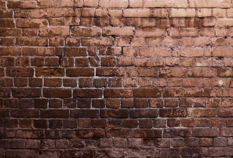 Mur de grunge de briques images libres de droits