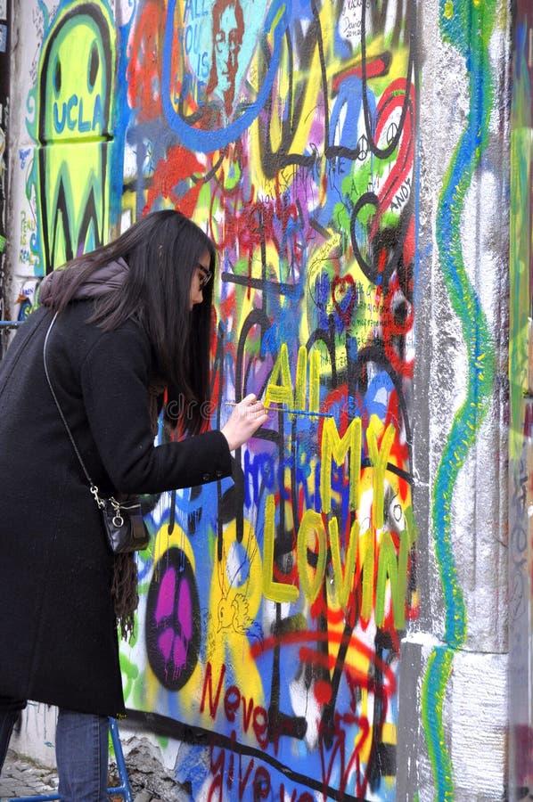 Mur de John Lennon images libres de droits