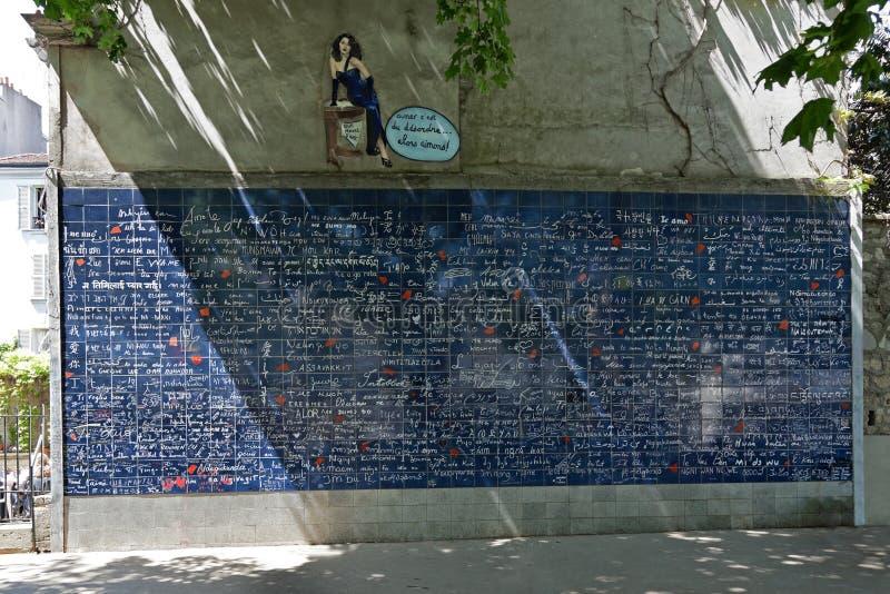 Mur de l'amour photo stock