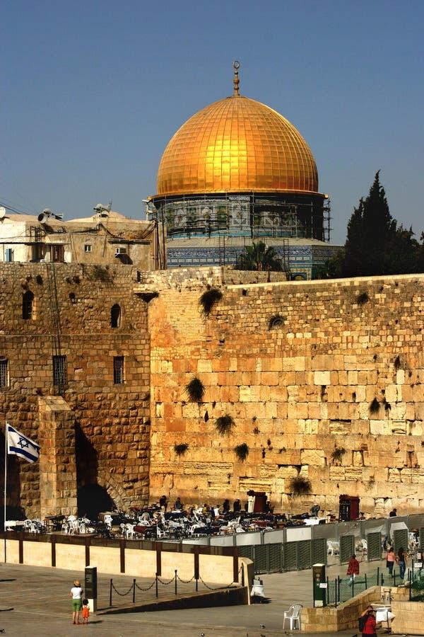 mur de l'Israël Jérusalem occidental photo libre de droits