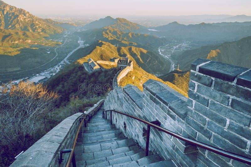 Mur de la Chine dans Pekin image libre de droits
