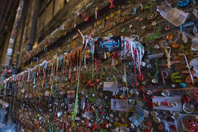 Mur de la gomme de Seattle photo libre de droits