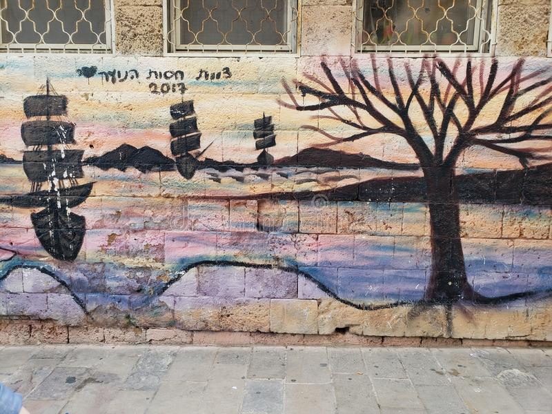 Mur de la rue art image libre de droits