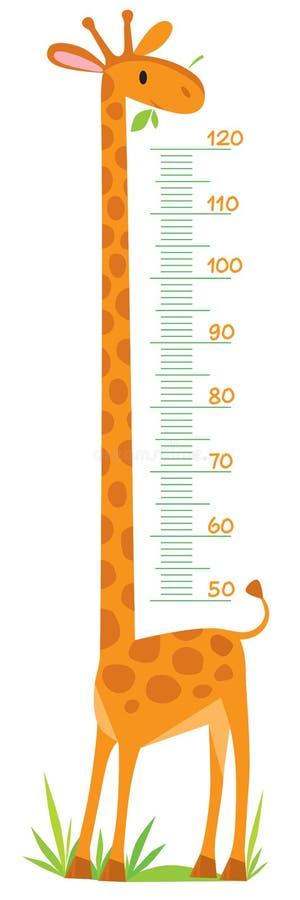 Mur de mètre de girafe illustration de vecteur