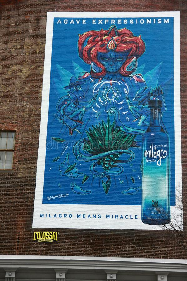 Mur de milagro de hoader de rue de Graphity NY photo libre de droits