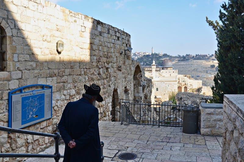 mur de minaret externe de Jérusalem de ville vieux photographie stock