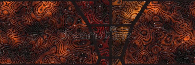 Mur de mosaïque de décor de conception Géométrique abstrait illustration stock