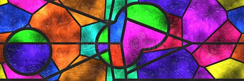 Mur de mosaïque de décor de conception Géométrique abstrait illustration de vecteur
