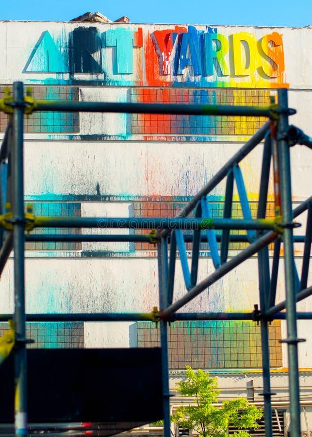 Mur de nord de C.C d'Art Yards images stock