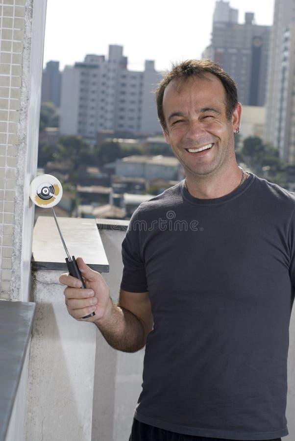 Mur de peinture d'homme - verticale photo libre de droits