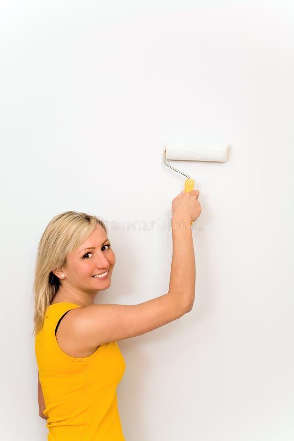 Mur de peinture de femme photo libre de droits