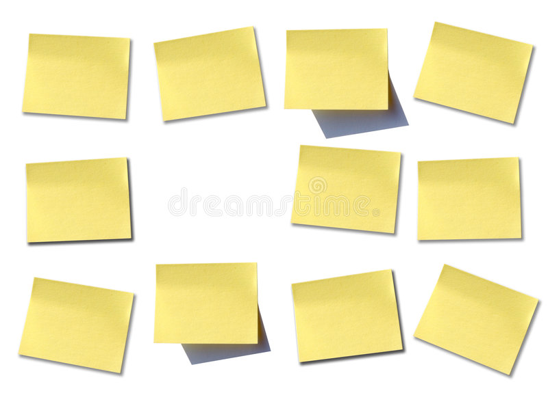 mur de post it photo stock image du papier jaune ordinateur 3030918. Black Bedroom Furniture Sets. Home Design Ideas