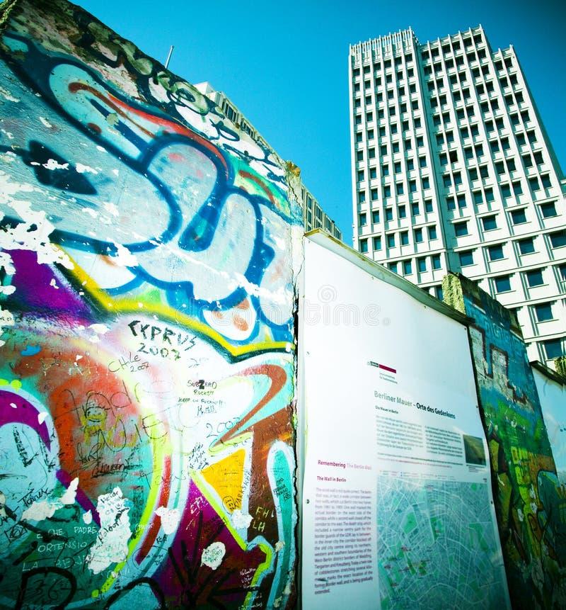 Mur de Potsdamer Platz image stock