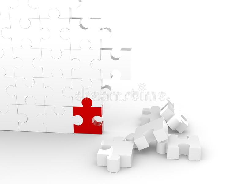 Mur de puzzle illustration libre de droits