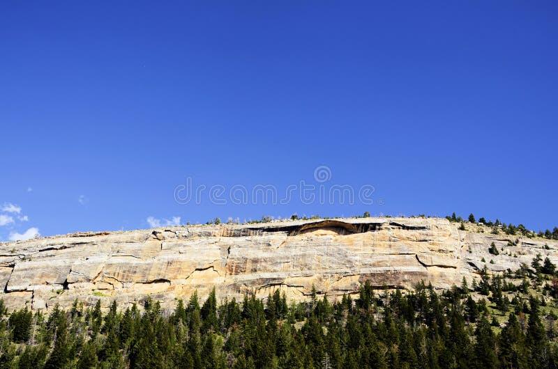 Mur de roche de gorge de bassins photographie stock libre de droits