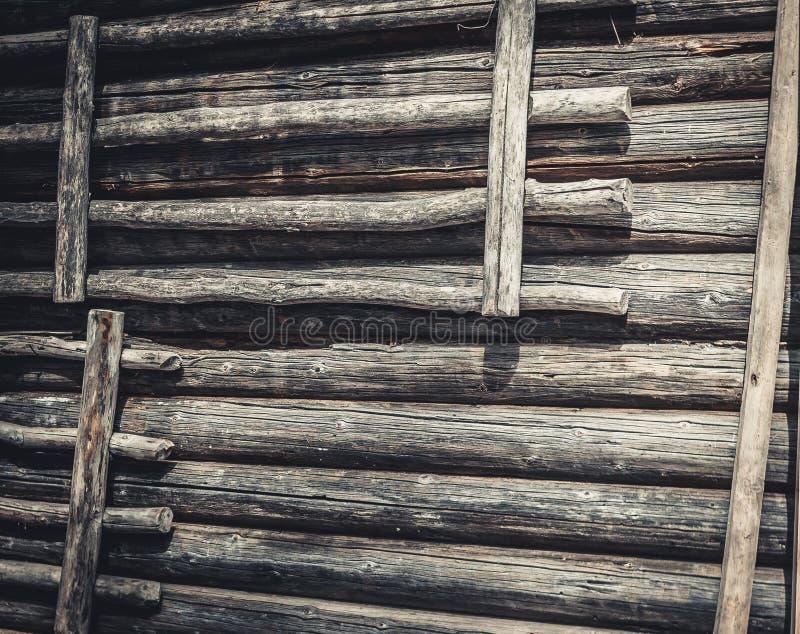 Mur de rondin photos libres de droits