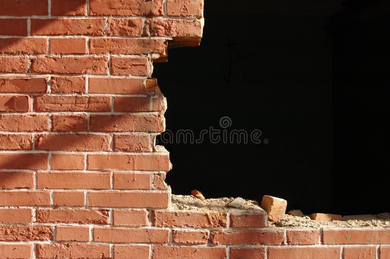 Mur de rouge de brique images libres de droits