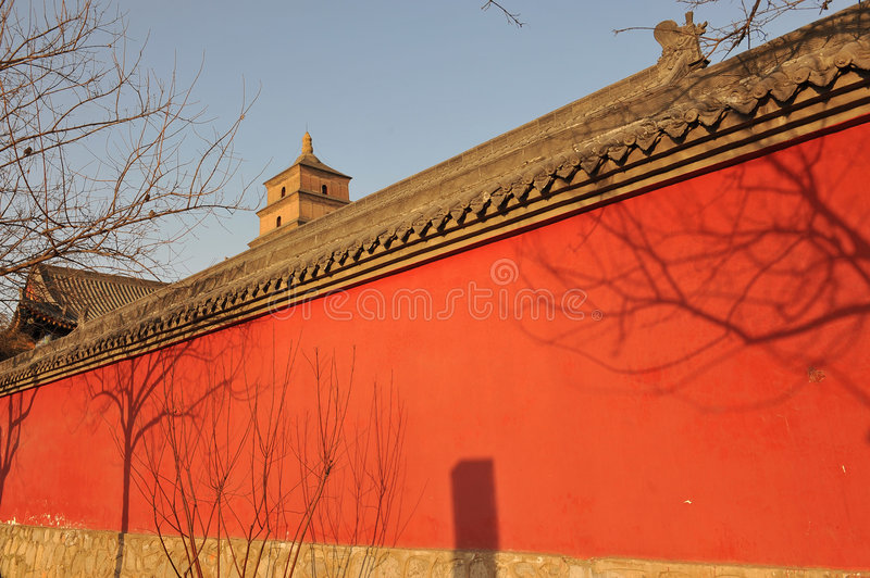 Mur De Rouge De La Chine Photo stock
