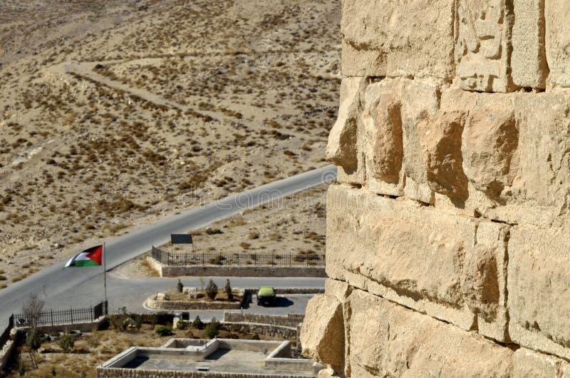Mur de Shobak de château. image libre de droits