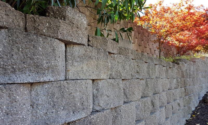 Mur de soutènement photo stock